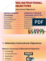 Determining Instructional Objectives
