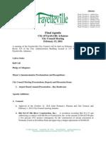 Fay Agenda 2.15.11