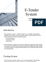 E-Tender System
