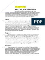 HRIS Security Measures