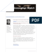 Innovation Watch Newsletter 10.04 - February 12, 2011