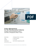 Project Management in Pharma Regulatory Affairs Teams
