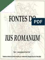 Fontes Ius Romanum e Costumes I[1]