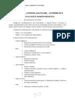 curs 3 - anestezice, antiinflamatoare, antipiretice