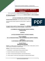 ley notarial del DF