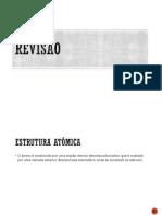 Revisão Estrutura Atômica e Tabela Periódica