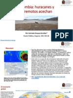 Colombia- Huracanes y Terremotos Acechan