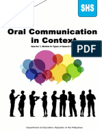 Oral Communication in Context MODULE-6-Speech-styles