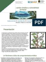 Eje Cafetero - Cambio Climático y Vulnerabilidad Territorial 2019