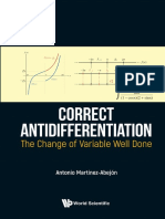 Correct Antidifferentiation The Change Of Variable Well Done by Antonio Martinez-Abejón (z-lib.org)