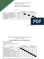 CRONOGRAMA DE INSTITUT