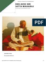 Nisarga Yoga - méditations avec Sri nisargadatta Maharaj - Copie