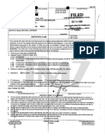 Dr. Arnold Klein's Invoice/Creditor's Claim towards the Estate of Michael Jackson