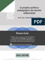 Slide Projeto Politico Pedagogico Elaboracao