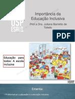 Slides importancia da educacao inclusiva II