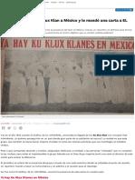 El día que llegó el Ku Klux Klan a México
