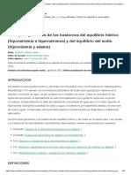 Principios generales de los trastornos del equilibrio hídrico