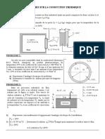 Problèmes sur la conduction thermique