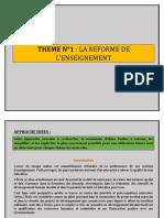 THEME N°1 LA REFORME DES L_ENSEIGNEMENT.docx
