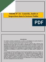 THEME N°26 Le Contrôle, Audit et Inspection dans Le Secteur Public.pdf
