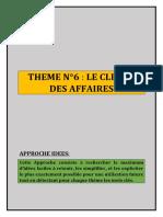 THEME N°6 LE CLIMAT DES AFFAIRES
