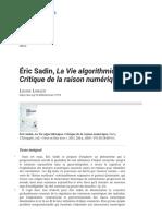 Éric Sadin, La Vie algorithmique. Critique de la raison numérique.pdf