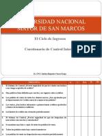 19. Ciclo de Ingresos - Cuestionario de Control Interno