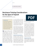 Resistance Training Considerations for the Sport of Squash