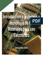Materiales para uso Electrónico.