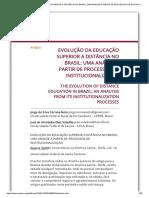 EVOLUÇÃO DA EDUCAÇÃO SUPERIOR A DISTÂNCIA NO BRASIL_ UMA ANÁLISE A PARTIR DE PROCESSOS DE INSTITUCIONALIZAÇÃO