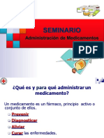 SEMINARIO DE ADMINISTRACIÓN DE MEDICAMENTOS