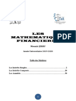 MATHEMATIQUS FINANCIERES