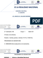 ANALISIS DE LA REALIDAD NACIONAL PROGRAMA