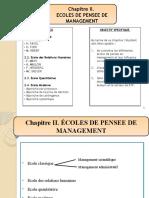 Chapitre II. ECOLE DES PENSES DE MANAGEMENT-1
