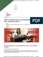 Anabela Cardoso entrevista parte 1