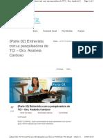 Anabela Cardoso entrevista parte 2