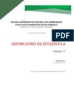 Definiciones de Estadística-oscar Delgado
