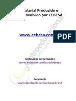Material Produzido e Desenvolvido por CEBESA.  Simulados comentados