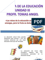 filosofia de la educacion unidad III