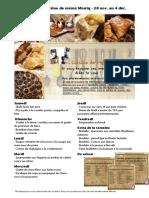Menus de La Cuisine de Meme Moniq Du 28 Novembre Au 4 Decembre