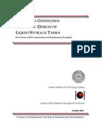 SEISMIC DESIGN OF LIQUID STORAGE TANKS