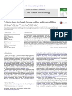 Prebiotic gluten-free bread Sensory profiling and drivers of liking