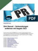 Dirk Massat – Verleumdungen entfernen mit Negativ SEO