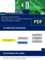 2.2 Planeación Agregada- Enfoque Programación Lineal