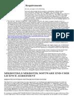 MIKROTIKLS MIKROTIK SOFTWARE END-USER LICENCE AGREEMENT