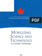 Govt of Canada 2007, S & T strategy