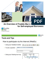 UNDERWRITING FOR SELF EMPLOYED BORROWERS FREDDIE MAC