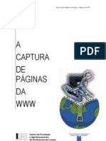 Curso de desenvolvimento de projectos educativos com suporte telemático - 7 (Captura de páginas da WWW)