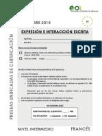 FRANCES Nivel Intermedio Sep2014 EEIE