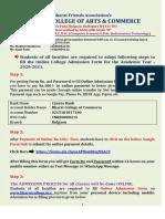 Bharat College Online Admission Form Circular